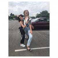 Zoey Deutch getting grabby with Judy Greer Instagram Pic 8/02/18