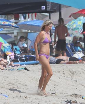 Ali Larter in a Bikini on a beach in Malibu 8/14/18