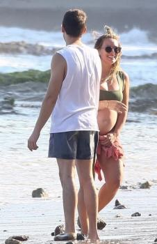 Hilary Duff in a Bikini on a beach in Malibu 8/14/18b6qw93w0cr.jpg