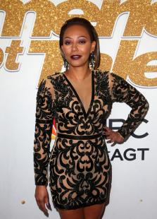 Melanie Brown - C-Through At America's Got Talent Season 13 Live Show Red Carpet In Hollywood (8/14/18)