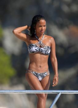 Christina Milian - Bikini Candids While On A Yacht In St. Tropez (8/16/18)