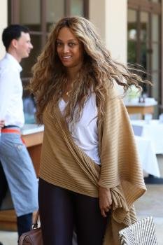 Tyra Banks - Grabs Some Lunch at Montage in Beverly Hills (8/17/18)