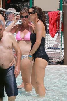 Jennifer Garner in a swimsuit at LEGOLAND California Resort in Carlsbad 8/22/18